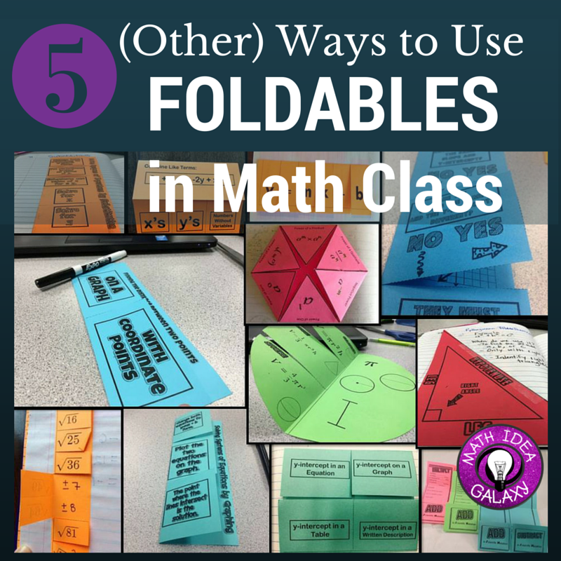 5 other ways to use foldables in your math classroom idea galaxy