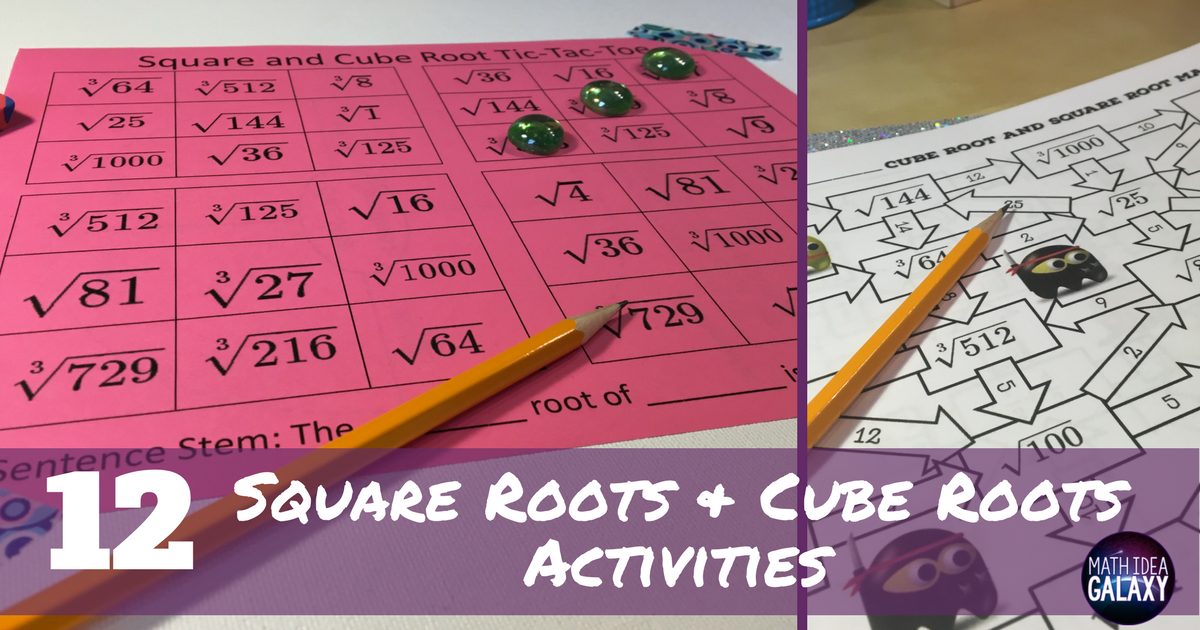 Squares And Square Roots A Number Sense Worksheet