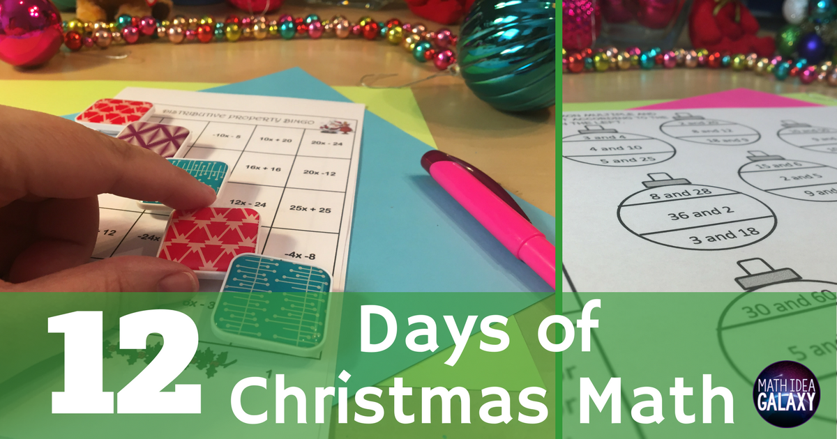 12 Days Of Christmas Math Activities For Middle School