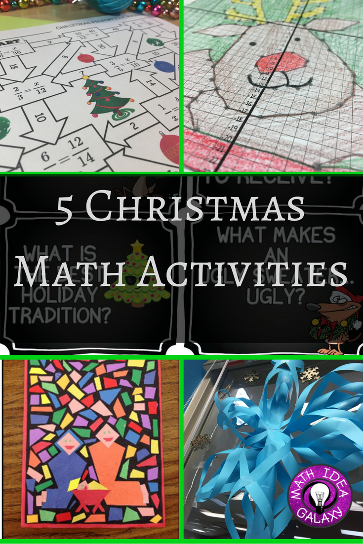 christmas math activities  5 ideas for the week before