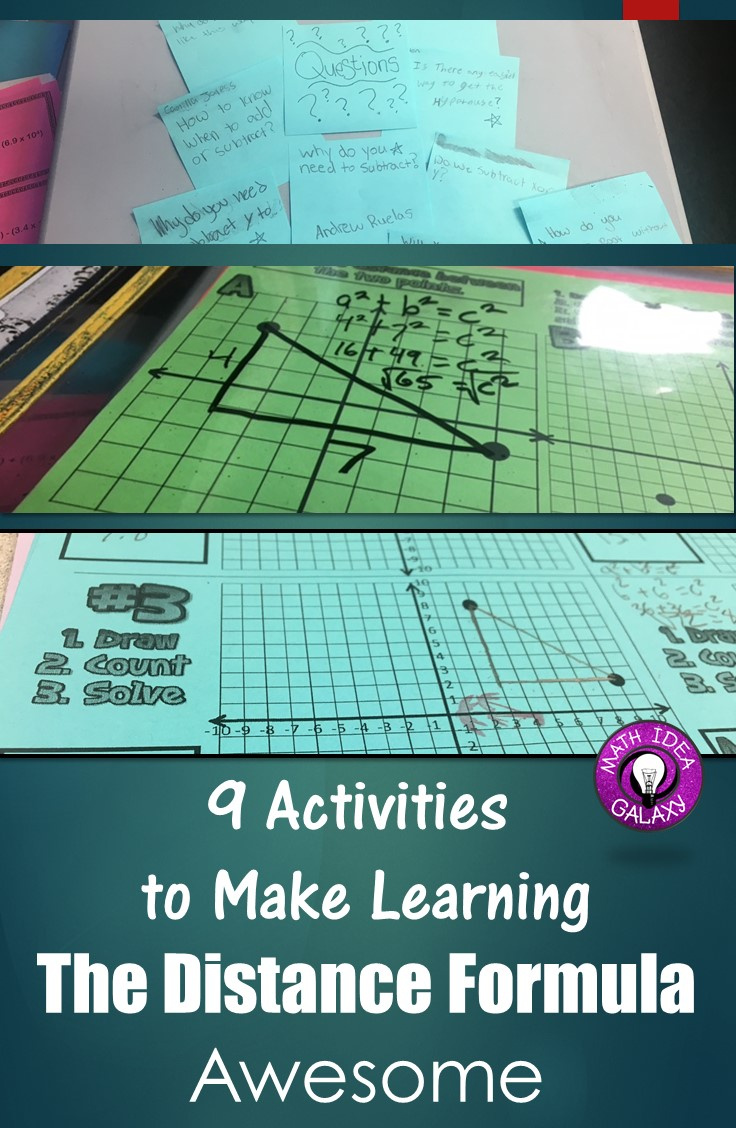 9 Ways to Make Teaching the Distance Formula Awesome - Idea Galaxy