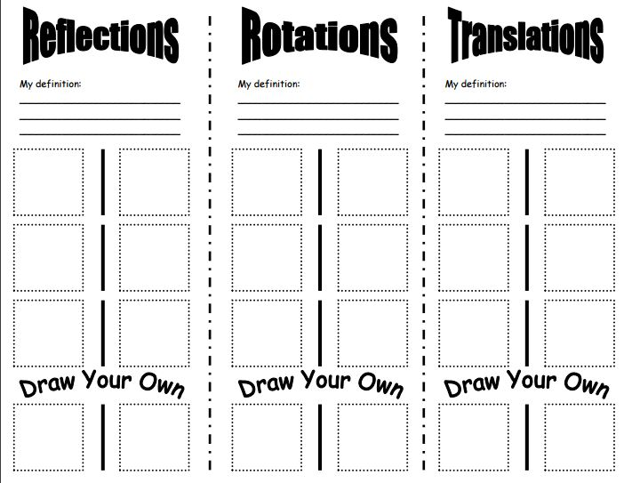 transformations coloring activity answer key pdf