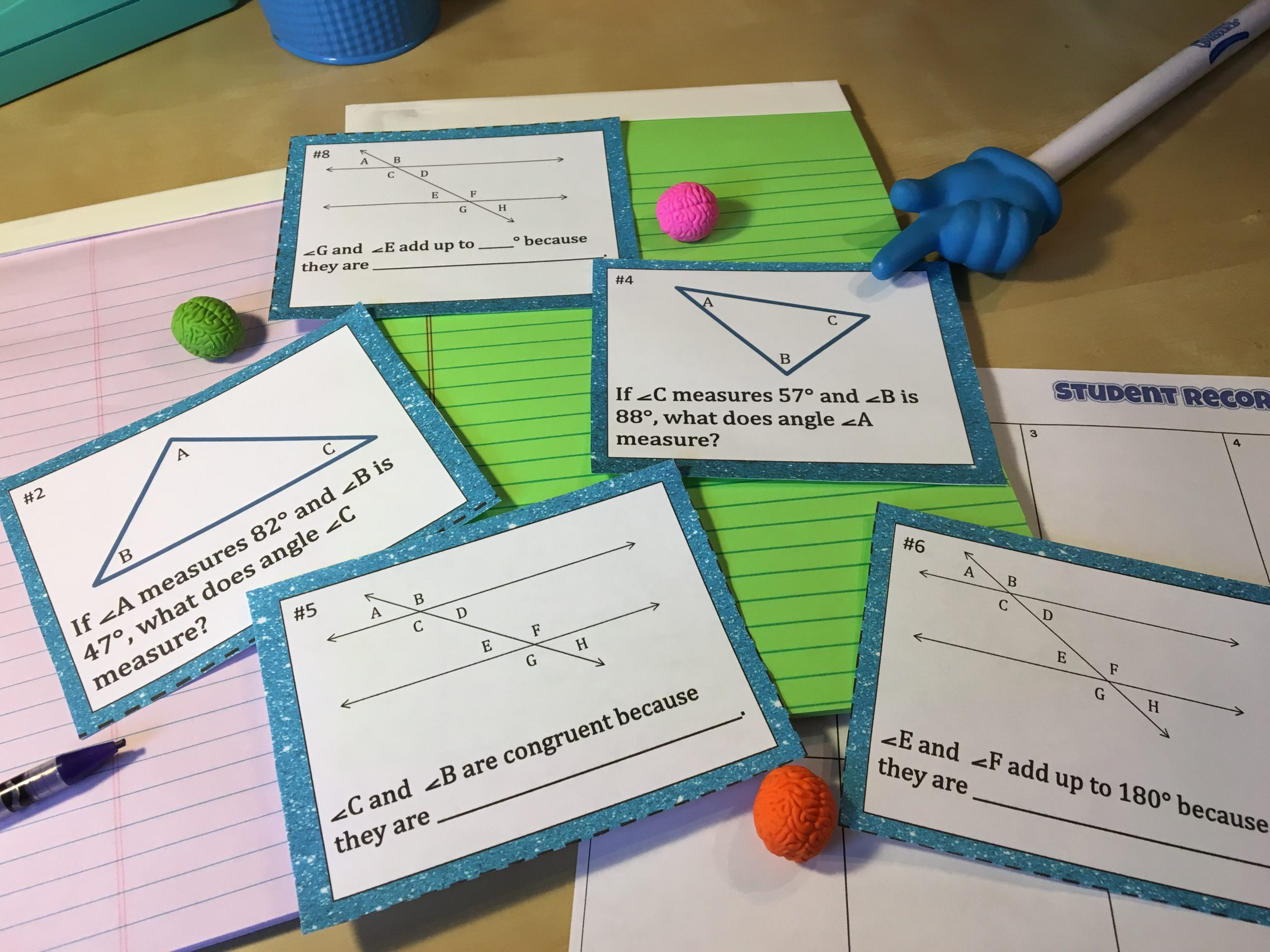 12 Activities for Making Parallel Lines Cut by a Transversal ...