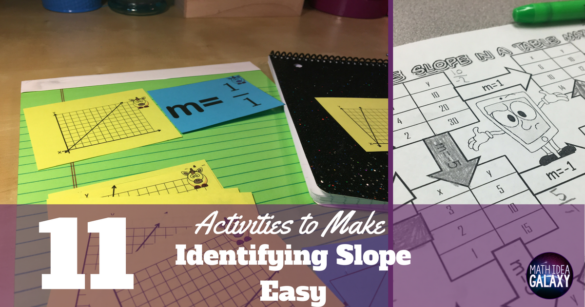 11 Activities That Make Identifying Slope Easy - Idea Galaxy