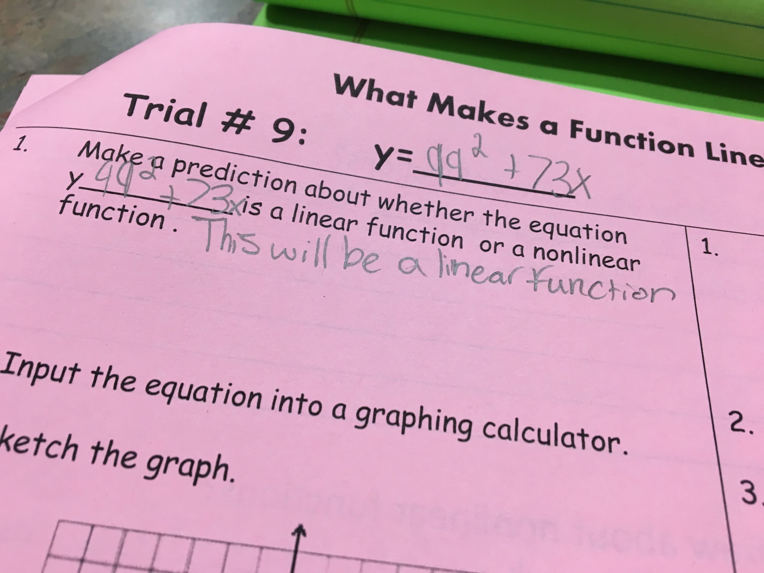 teaching linear versus nonlinear functions through discovery - idea
