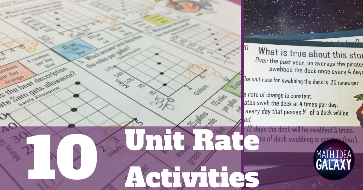 11 Activities to Make Unit Rate Stick - Idea Galaxy