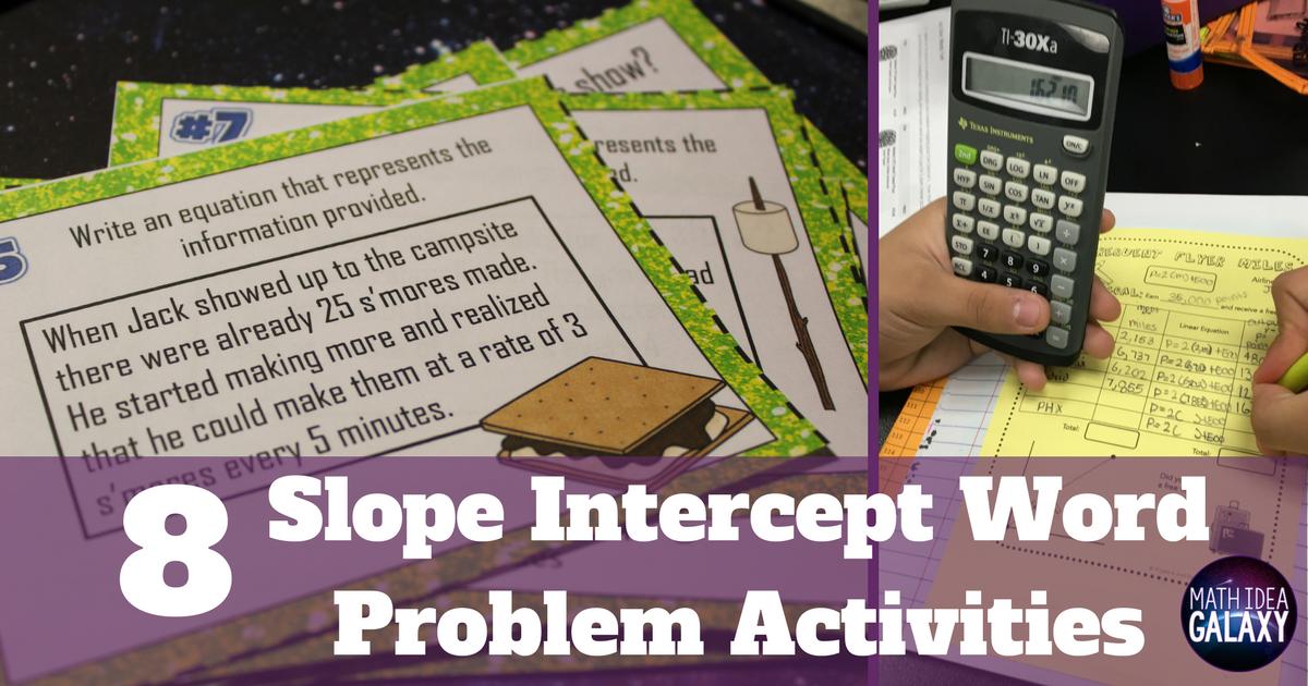 8 slope intercept word problems activities that rock idea galaxy ibookread PDF