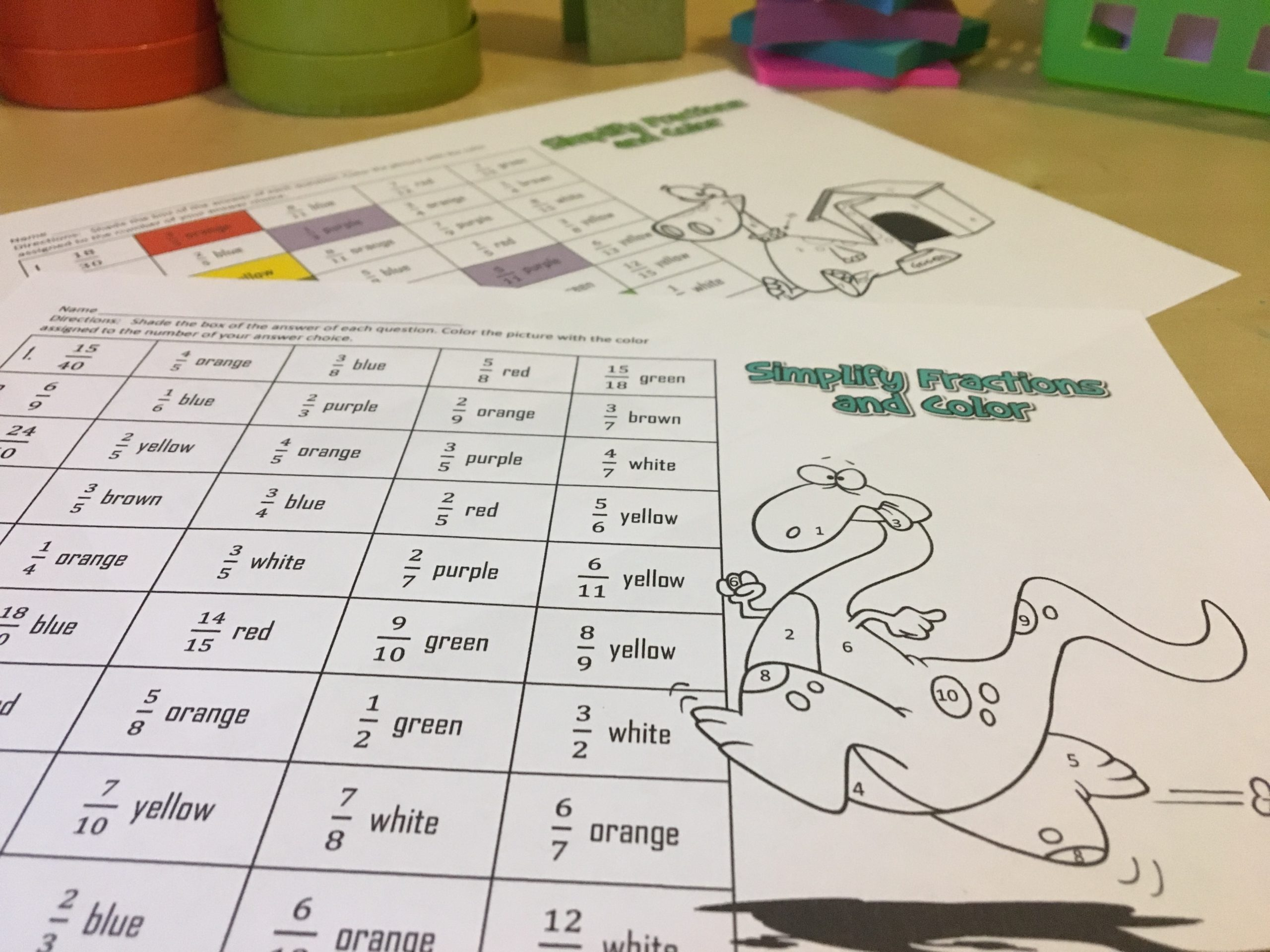 photograph regarding Simplifying Fractions Game Printable identify 11 Tremendous Exciting Routines for Simplifying Fractions - Principle Galaxy