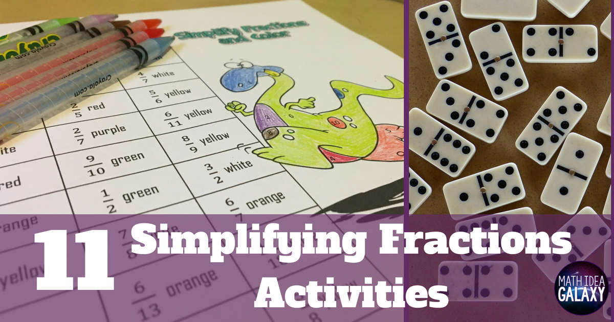 image regarding Simplifying Fractions Game Printable titled 11 Tremendous Enjoyment Actions for Simplifying Fractions - Thought Galaxy