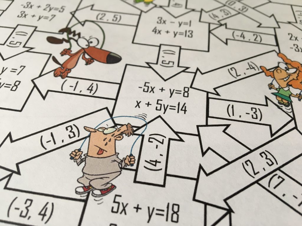 systems of inequalities coloring activity answer key thanksgiving